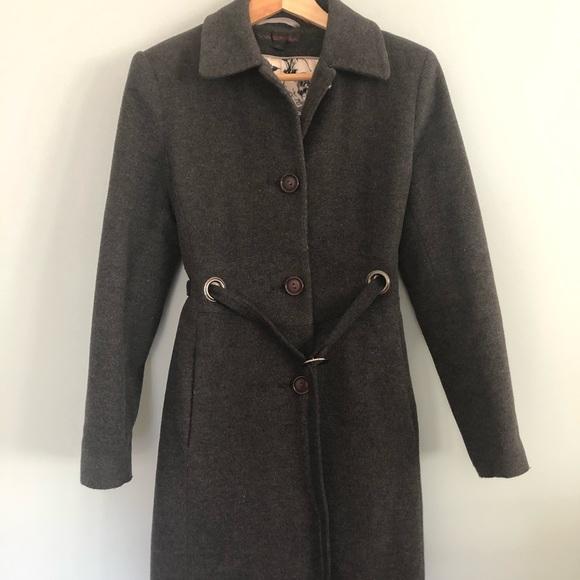 Via Spiga Jackets & Blazers - Via Spiga - Wool/Cashmere Blend Car Coat - Gray